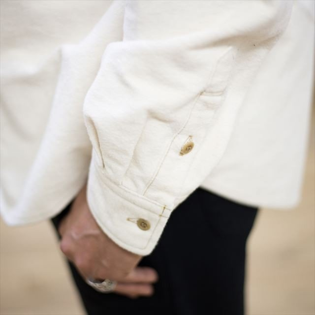TURN ME ON ターンミーオン /パネルプリント 起毛ネルシャツ(WHITE) Lサイズ la-grande-roue 04