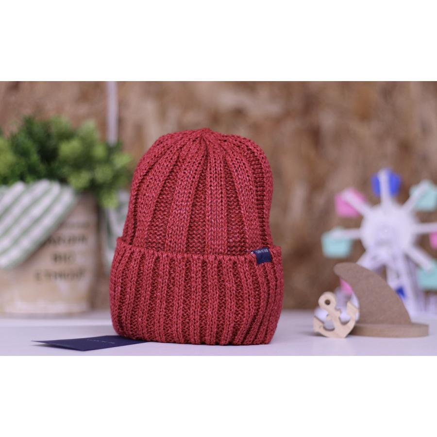TURN ME ON /和紙ニットキャップ (RED) ニット帽 ビーニー la-grande-roue