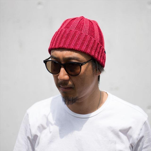TURN ME ON /和紙ニットキャップ (RED) ニット帽 ビーニー la-grande-roue 02