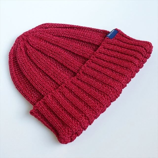 TURN ME ON /和紙ニットキャップ (RED) ニット帽 ビーニー la-grande-roue 06