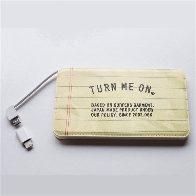 TURN ME ON /モバイルバッテリー TURN ME ON LOGO 充電器|la-grande-roue|03