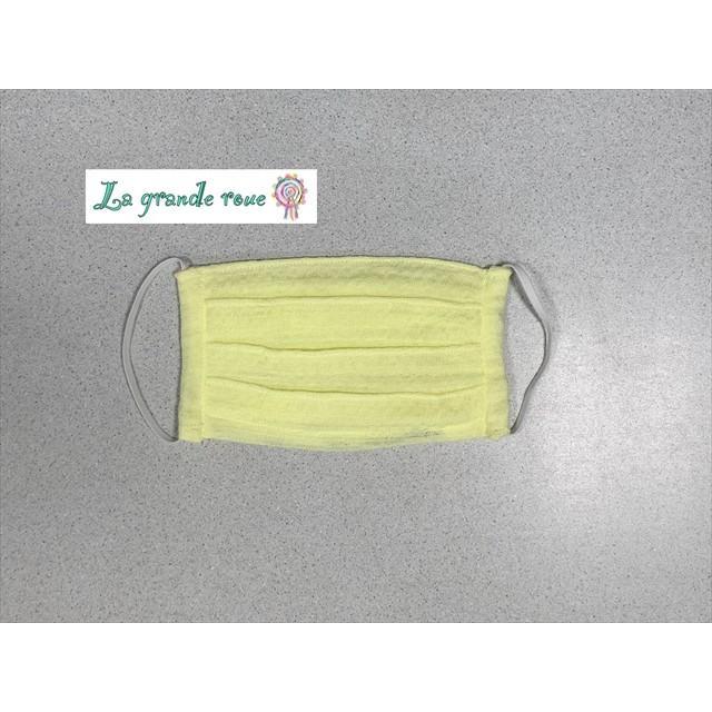 ハンドメイドマスク Wガーゼタオル 泉州タオル使用 大人用 無地 受注制作 3枚セット レモン|la-grande-roue