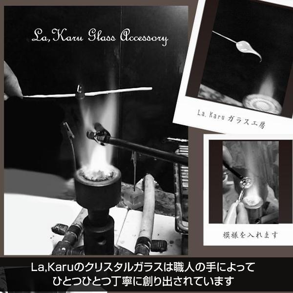 【乳白色】クリスタルドロップピアス/イヤリング【La,Karuラ・カルクリスタルガラス】シンプル ティアドロップ 涙型 しずく 人気 金属アレルギー対応 la-karu 08