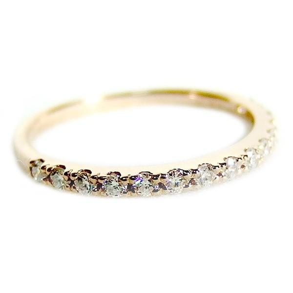 ふるさと納税 ダイヤモンド リング ハーフエタニティ 0.2ct 11.5号 K18 ピンクゴールド 0.2カラット エタニティリング 指輪 鑑別カード付き, 珠洲市 5945267e
