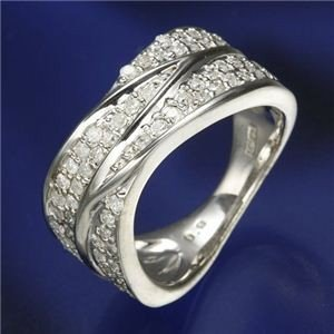【半額】 0.6ctダイヤリング 指輪 ワイドパヴェリング 15号, Ware House BLANCA 7b9da8d1