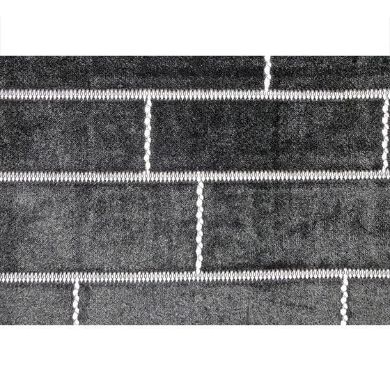 【ボーダー柄(レンガ)】ベロアレース 生地 No.137442Y  100cm巾×50cm単位販売 4色(ブラック・ネイビー・ボルドー・ベージュ)日本製|lace