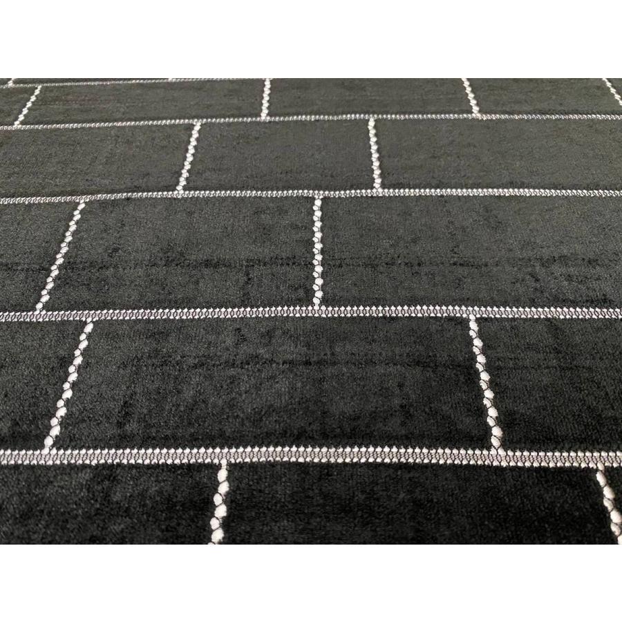 【ボーダー柄(レンガ)】ベロアレース 生地 No.137442Y  100cm巾×50cm単位販売 4色(ブラック・ネイビー・ボルドー・ベージュ)日本製|lace|02