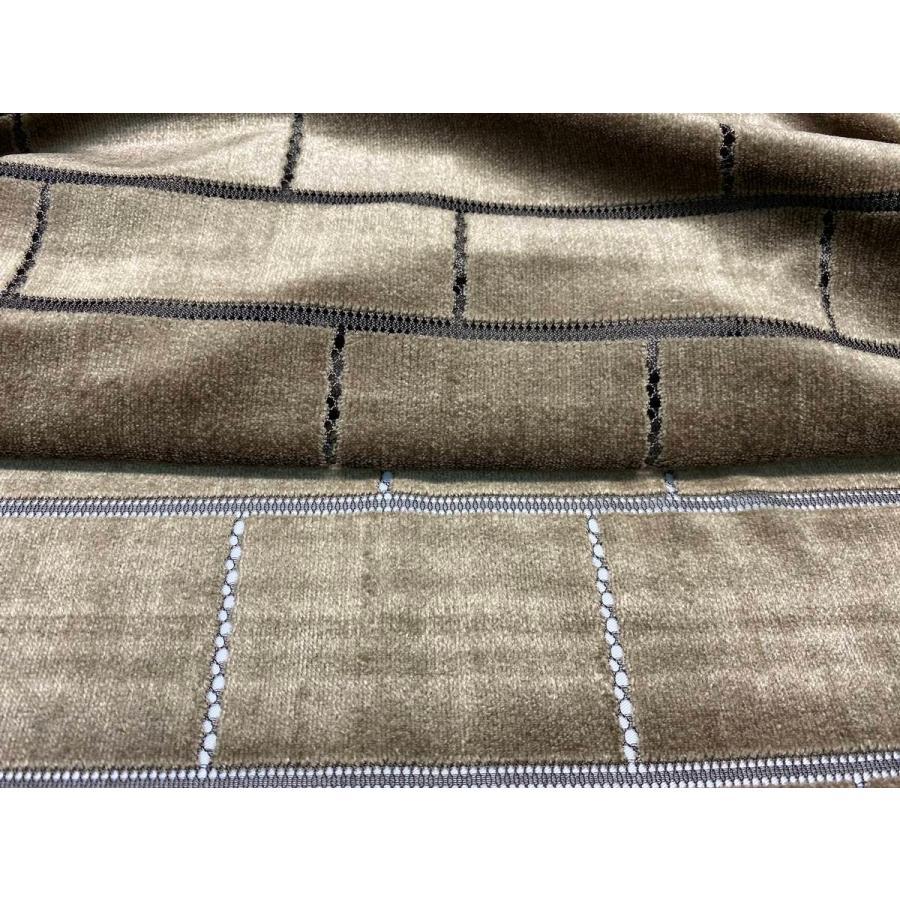 【ボーダー柄(レンガ)】ベロアレース 生地 No.137442Y  100cm巾×50cm単位販売 4色(ブラック・ネイビー・ボルドー・ベージュ)日本製|lace|11