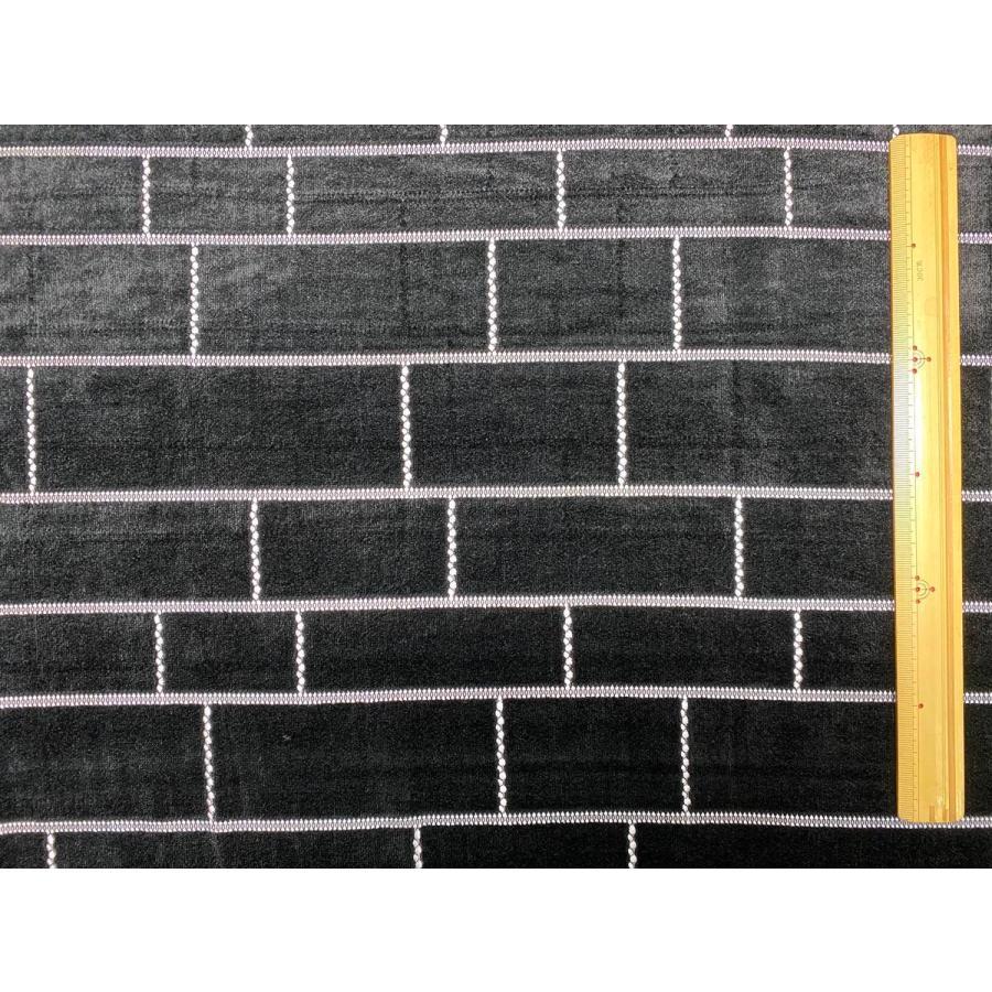 【ボーダー柄(レンガ)】ベロアレース 生地 No.137442Y  100cm巾×50cm単位販売 4色(ブラック・ネイビー・ボルドー・ベージュ)日本製|lace|13