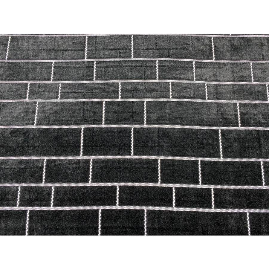【ボーダー柄(レンガ)】ベロアレース 生地 No.137442Y  100cm巾×50cm単位販売 4色(ブラック・ネイビー・ボルドー・ベージュ)日本製|lace|03
