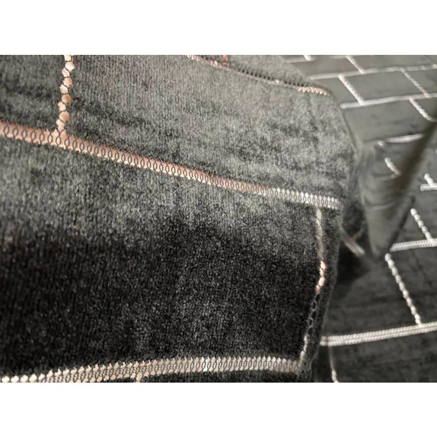 【ボーダー柄(レンガ)】ベロアレース 生地 No.137442Y  100cm巾×50cm単位販売 4色(ブラック・ネイビー・ボルドー・ベージュ)日本製|lace|04