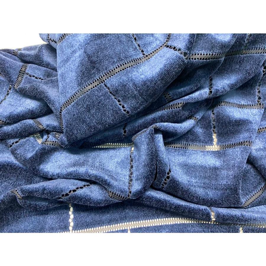 【ボーダー柄(レンガ)】ベロアレース 生地 No.137442Y  100cm巾×50cm単位販売 4色(ブラック・ネイビー・ボルドー・ベージュ)日本製|lace|06