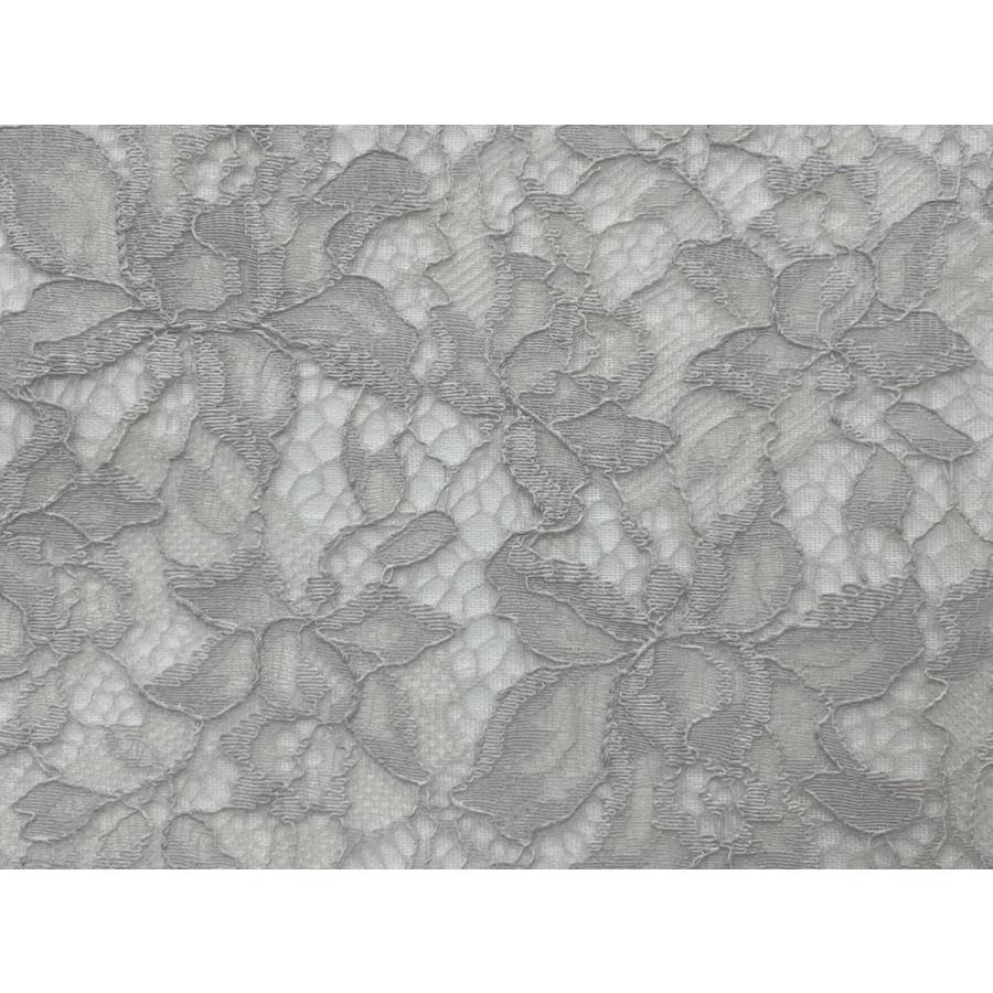 レース 生地 No.82513 レース【ボーダー柄】 50cm単位販売 2色(ライトグレー、ブラック)|lace|02