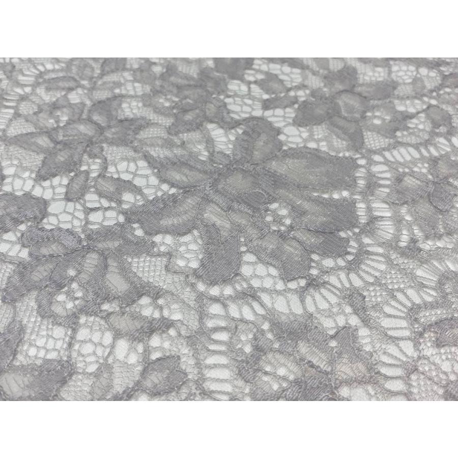 レース 生地 No.82513 レース【ボーダー柄】 50cm単位販売 2色(ライトグレー、ブラック)|lace|05