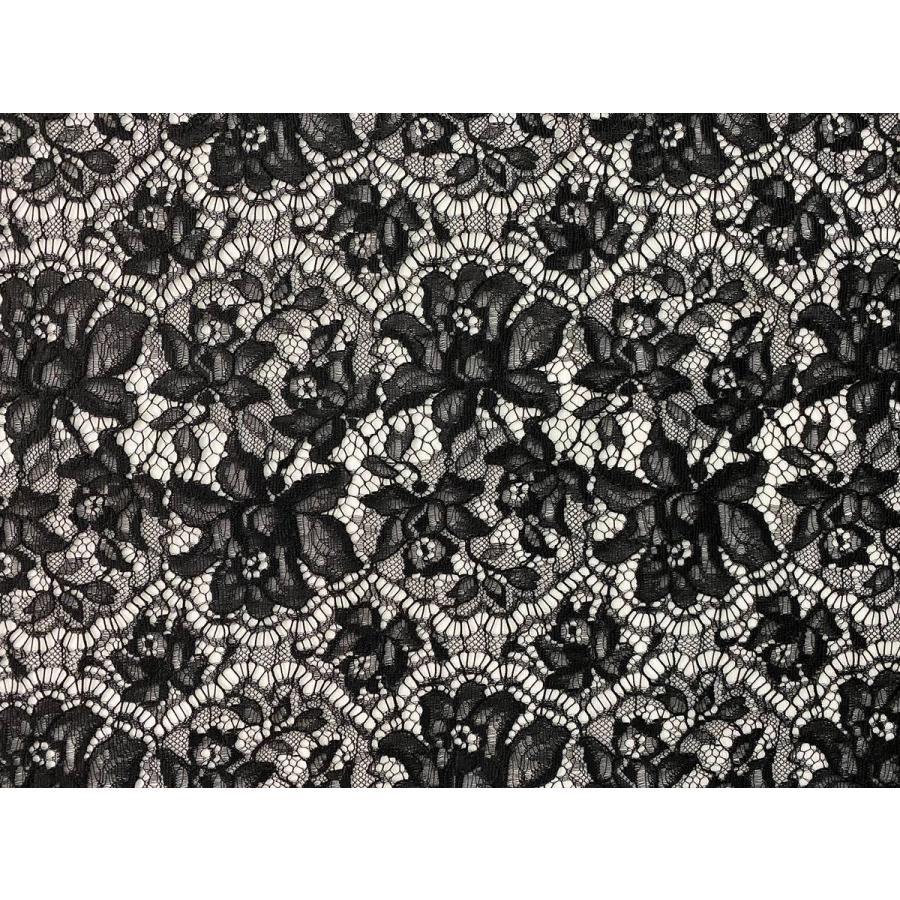 レース 生地 No.82513 レース【ボーダー柄】 50cm単位販売 2色(ライトグレー、ブラック)|lace|06