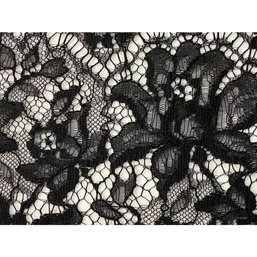 レース 生地 No.82513 レース【ボーダー柄】 50cm単位販売 2色(ライトグレー、ブラック)|lace|07