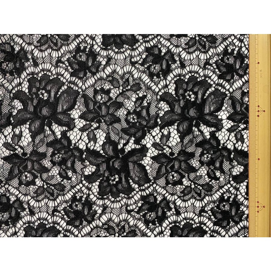 レース 生地 No.82513 レース【ボーダー柄】 50cm単位販売 2色(ライトグレー、ブラック)|lace|10