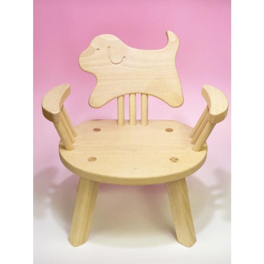 木のおもちゃ 子供椅子ひじ掛付(いぬ)犬ちゃん 子供椅子ひじ掛付(いぬ)犬ちゃん