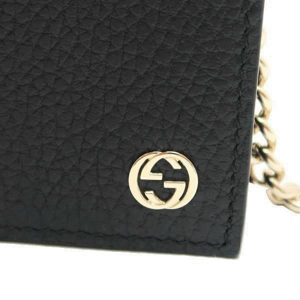 グッチ チェーンウォレット 長財布 ショルダーバッグ レザー ブラック 黒 箱付き 466506 新品|lafesta-k|06