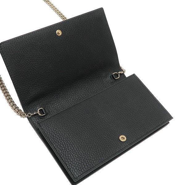 グッチ チェーンウォレット 長財布 ショルダーバッグ レザー ブラック 黒 箱付き 466506 新品|lafesta-k|07