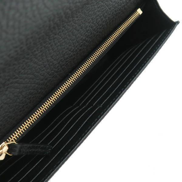 グッチ チェーンウォレット 長財布 ショルダーバッグ レザー ブラック 黒 箱付き 466506 新品|lafesta-k|08