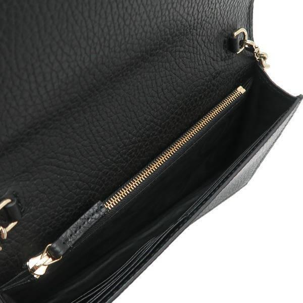 グッチ チェーンウォレット 長財布 ショルダーバッグ レザー ブラック 黒 箱付き 466506 新品|lafesta-k|09