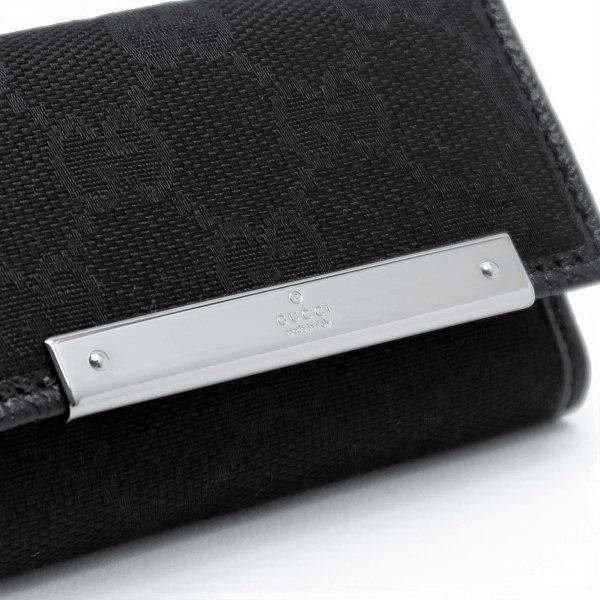 グッチ 6連キーケース GGキャンバス×レザー ブラック 箱付き 127048 新品|lafesta-k|04