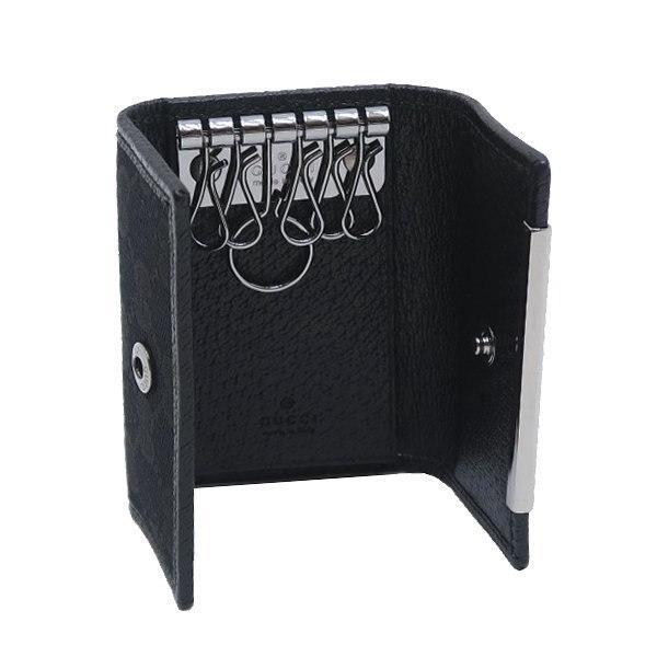 グッチ 6連キーケース GGキャンバス×レザー ブラック 箱付き 127048 新品|lafesta-k|05