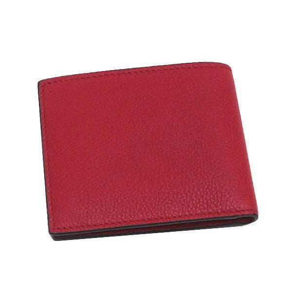 グッチ 2つ折り財布(札・カード入れ) レザー レッド 赤系 GGヴィンテージロゴプリント 箱付き 496309 新品 lafesta-k 02