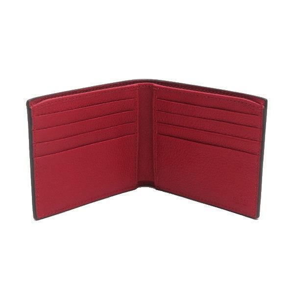 グッチ 2つ折り財布(札・カード入れ) レザー レッド 赤系 GGヴィンテージロゴプリント 箱付き 496309 新品 lafesta-k 03