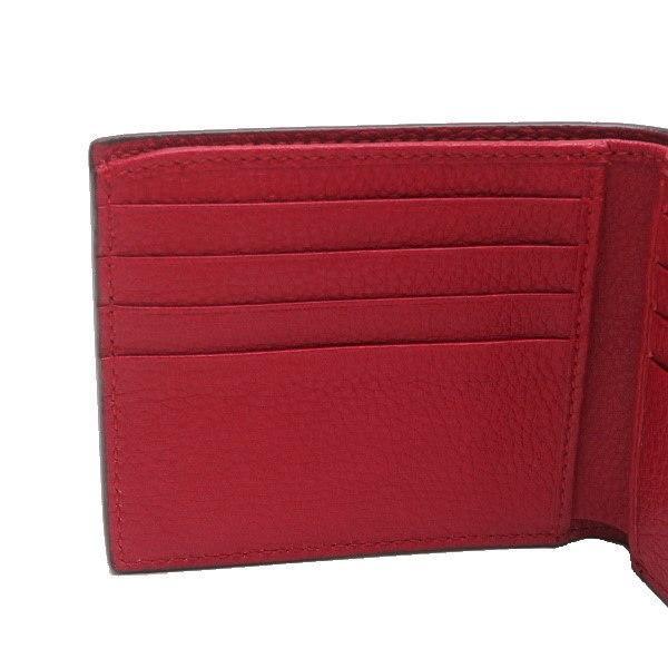 グッチ 2つ折り財布(札・カード入れ) レザー レッド 赤系 GGヴィンテージロゴプリント 箱付き 496309 新品 lafesta-k 04