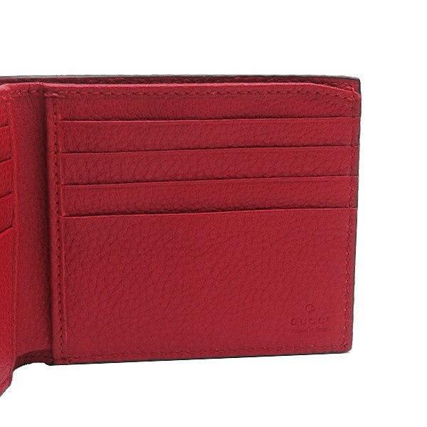 グッチ 2つ折り財布(札・カード入れ) レザー レッド 赤系 GGヴィンテージロゴプリント 箱付き 496309 新品 lafesta-k 05