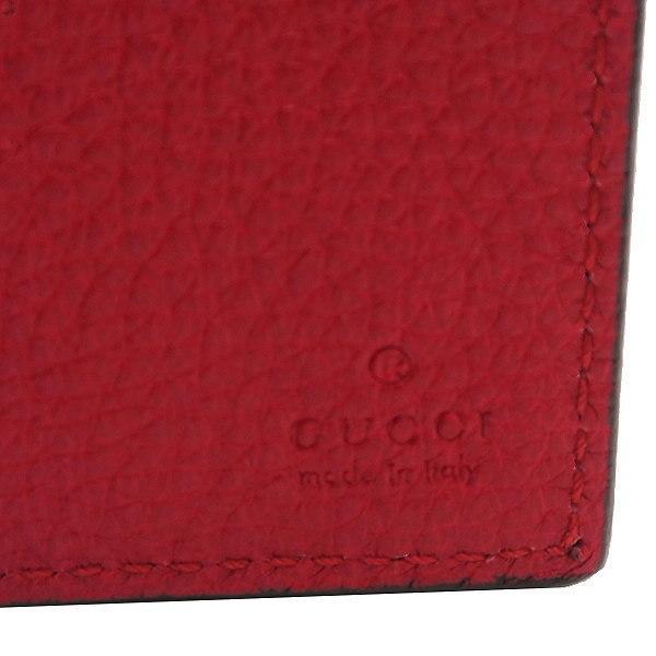 グッチ 2つ折り財布(札・カード入れ) レザー レッド 赤系 GGヴィンテージロゴプリント 箱付き 496309 新品 lafesta-k 06