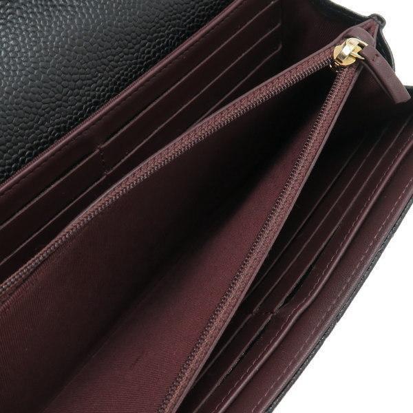 シャネル 2つ折り長財布 クラシック フラップ ウォレット キャビアスキン ブラック ゴールド A80758 中古(程度良)|lafesta-k|11