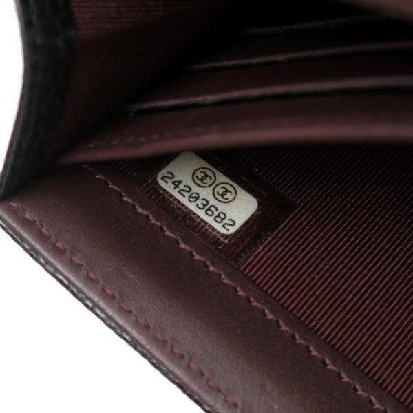 シャネル 2つ折り長財布 クラシック フラップ ウォレット キャビアスキン ブラック ゴールド A80758 中古(程度良)|lafesta-k|12