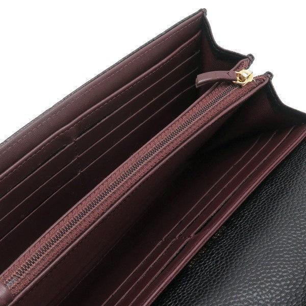 シャネル 2つ折り長財布 クラシック フラップ ウォレット キャビアスキン ブラック ゴールド A80758 中古(程度良)|lafesta-k|10