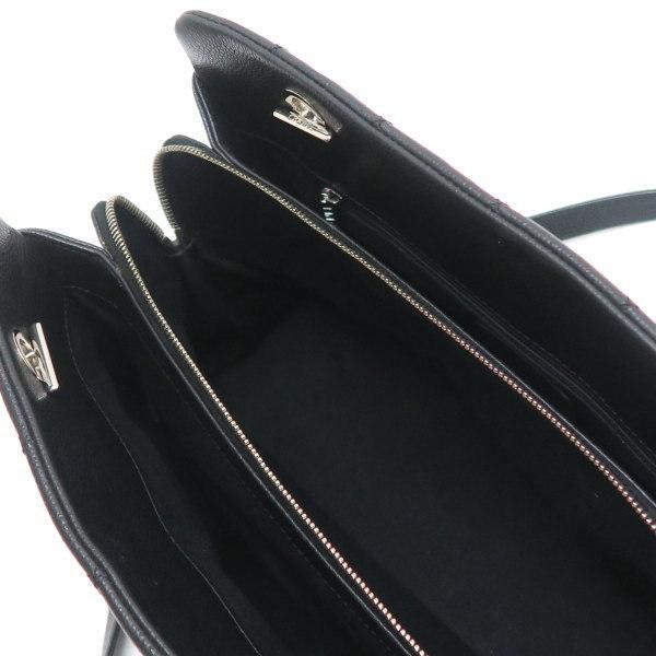 シャネル ショルダーバッグ キャビアスキン ブラック シルバー金具 保存袋付き A67294 中古(程度極良) lafesta-k 11