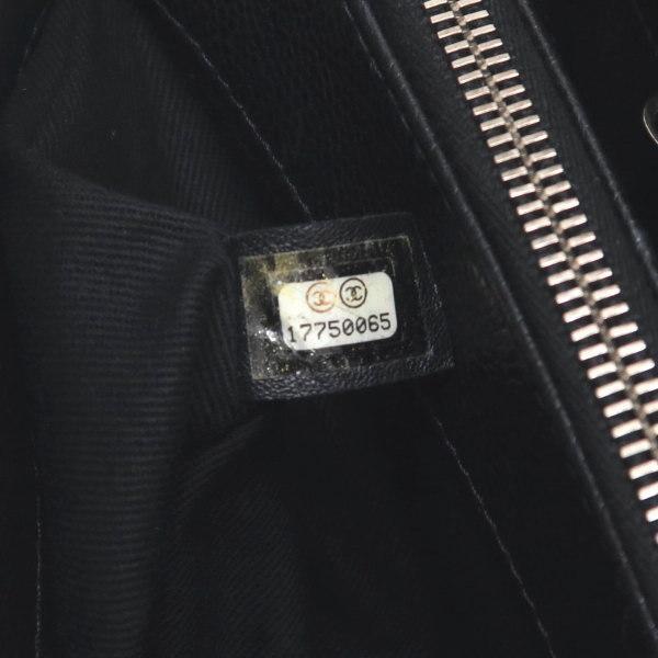 シャネル ショルダーバッグ キャビアスキン ブラック シルバー金具 保存袋付き A67294 中古(程度極良) lafesta-k 12
