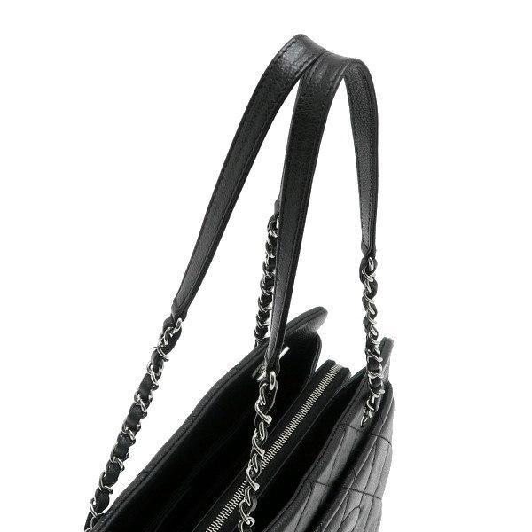 シャネル ショルダーバッグ キャビアスキン ブラック シルバー金具 保存袋付き A67294 中古(程度極良) lafesta-k 06