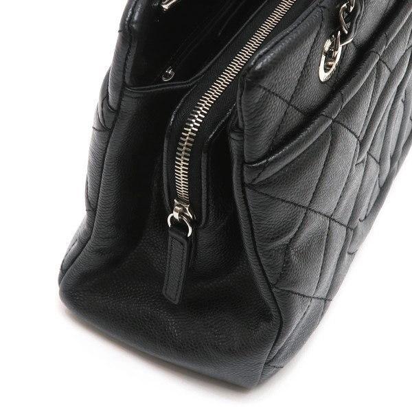 シャネル ショルダーバッグ キャビアスキン ブラック シルバー金具 保存袋付き A67294 中古(程度極良) lafesta-k 08