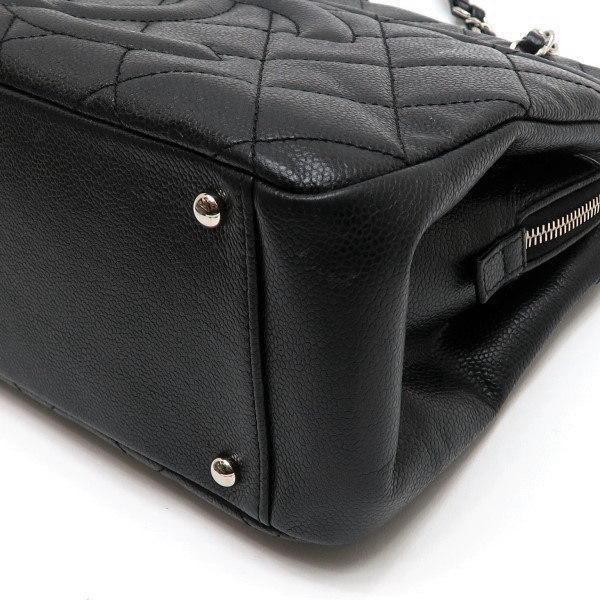 シャネル ショルダーバッグ キャビアスキン ブラック シルバー金具 保存袋付き A67294 中古(程度極良) lafesta-k 09