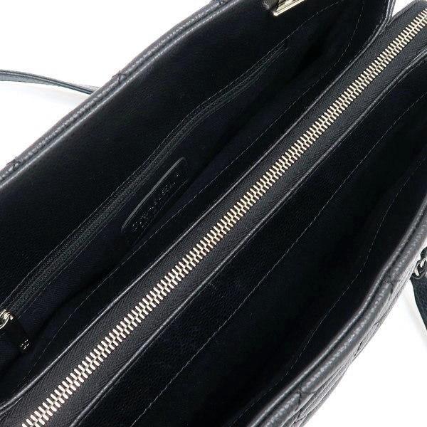 シャネル ショルダーバッグ キャビアスキン ブラック シルバー金具 保存袋付き A67294 中古(程度極良) lafesta-k 10