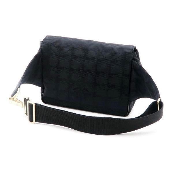 シャネル ニュートラベルライン ウエストポーチ ブラック 黒 Gカード 保存袋付き A29346 中古(程度極良【美品】)|lafesta-k|02