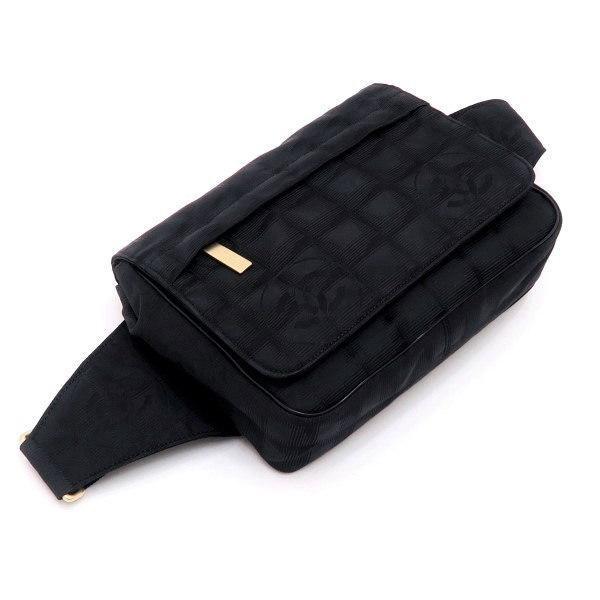 シャネル ニュートラベルライン ウエストポーチ ブラック 黒 Gカード 保存袋付き A29346 中古(程度極良【美品】)|lafesta-k|03