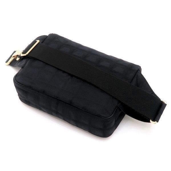 シャネル ニュートラベルライン ウエストポーチ ブラック 黒 Gカード 保存袋付き A29346 中古(程度極良【美品】)|lafesta-k|04