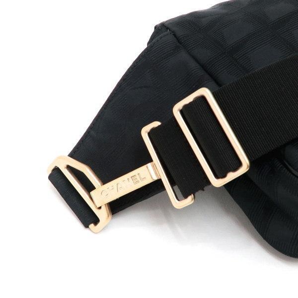 シャネル ニュートラベルライン ウエストポーチ ブラック 黒 Gカード 保存袋付き A29346 中古(程度極良【美品】)|lafesta-k|05
