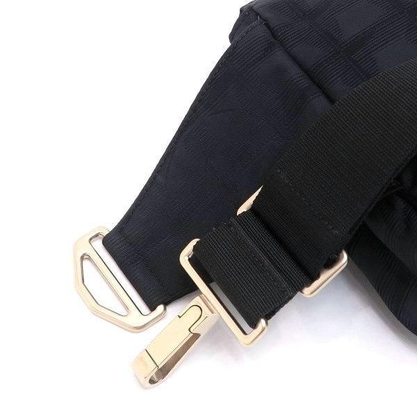 シャネル ニュートラベルライン ウエストポーチ ブラック 黒 Gカード 保存袋付き A29346 中古(程度極良【美品】)|lafesta-k|06