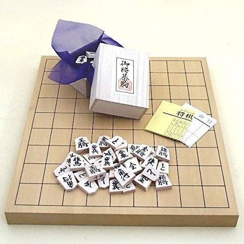 将棋セット 新かや1寸卓上接合将棋盤竹と白椿上彫駒のセット