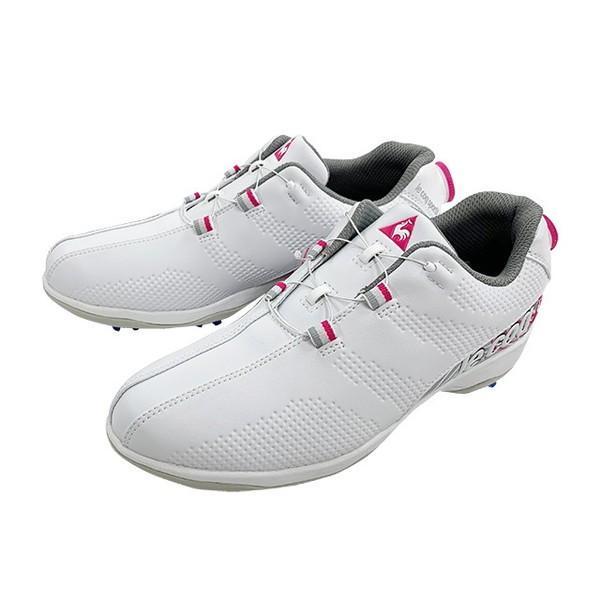 ルコックゴルフ(le coq sportif GOLF) ゴルフスパイク QQ3NJA00-WHPK ホワイトピンク