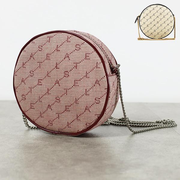 【セール 登場から人気沸騰】 【2019 AW】『STELLA McCARTNEY-ステラマッカートニー-』Mini Round Bag Monogram Eco Monogram Canvas シュルダーバッグ チェーンバッグ [581289W8437], コウヌグン ecb8411a